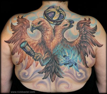 Double Headed Eagle Tattoo Design Thumbnail