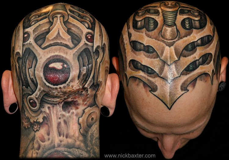 Tattoos - Mech Head - 49456