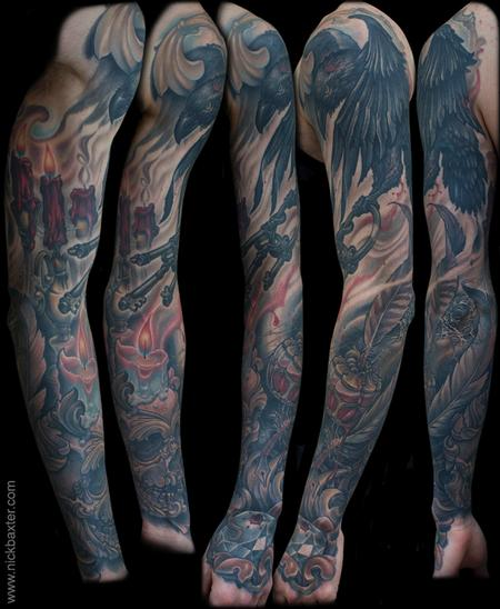 Tattoos - Gothic Still Life Sleeve - 123232