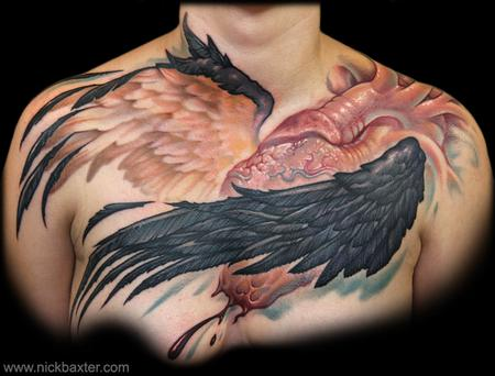 Winged Heart Tattoo Design Thumbnail