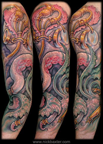 Tattoos - Steampunk Octopus - 32824