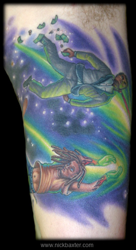 Tattoos - Shooting Stars Half sleeve (Inside) - 6851