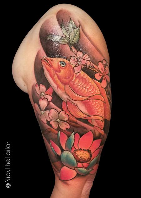 Tattoos - Koi Half Sleeve - 126251