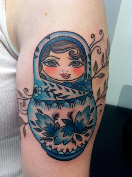Polish Nesting Doll Tattoo Design