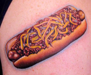 Nikko - Chili dog tattoo