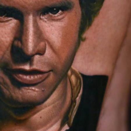 Han Solo Details Tattoo Design Thumbnail