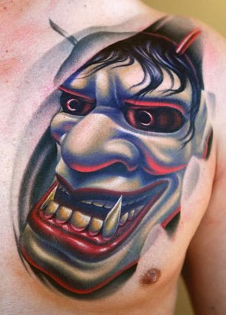 Nikko Hurtado - Hanya Mask Tattoo