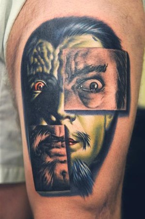 Nikko Hurtado - Bob Tyrrell and Nikko collaboration tattoo