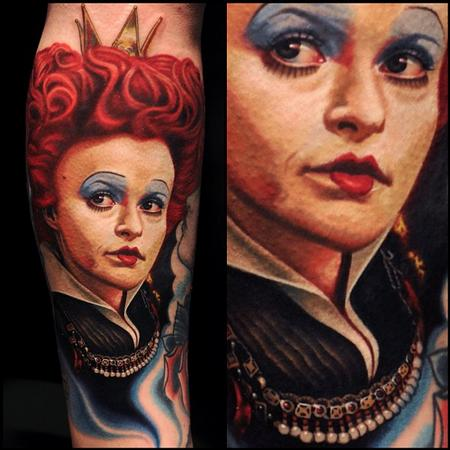 Nikko Hurtado - Queen of hearts tattoo