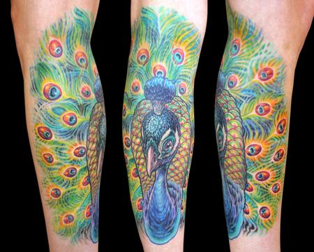 Tattoos - Peacock  - 100149