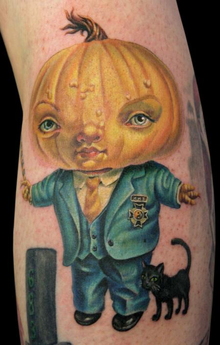 Pumpkin President Tattoo Design
