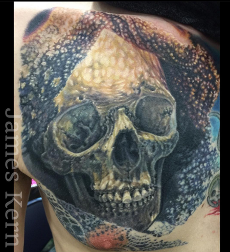 Tattoos - Laced Skull Tattoo (in-progress) - 115235