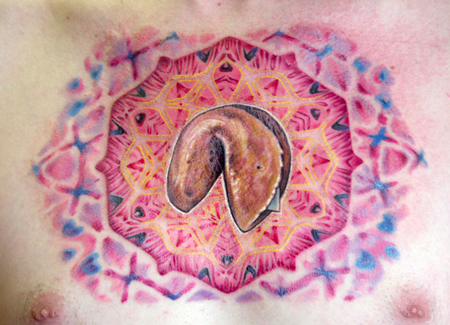 Tattoos - Mandala Fortune Cookie Tattoo - 62643