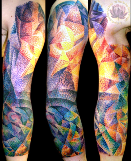 Tattoos - Color Fractal Tattoo - 62645