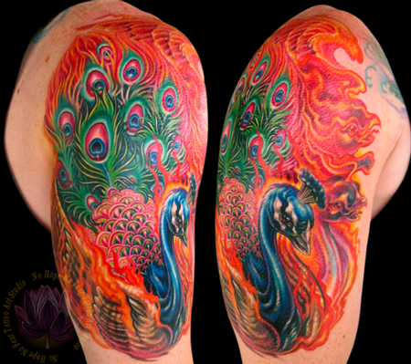 James Kern - Peacock Half Sleeve Tattoo