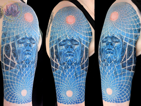 Tattoos - Alex Grey Inspired Half Sleeve - 62648
