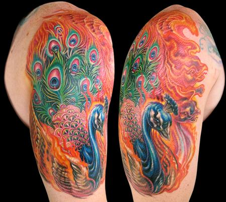Tattoos - Peacock phoenix - 116243