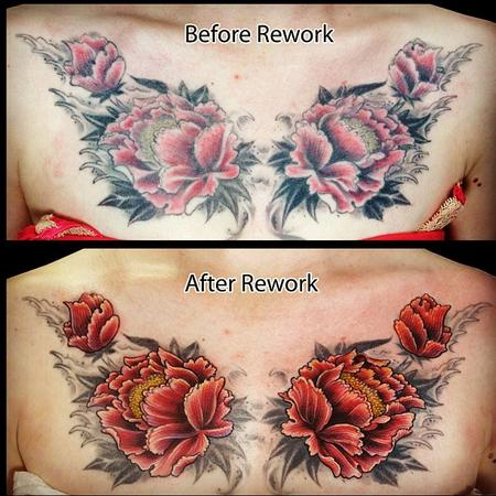 James Kern - Flower color rework tattoo
