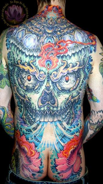 Skull Backpiece Tattoo Design Thumbnail