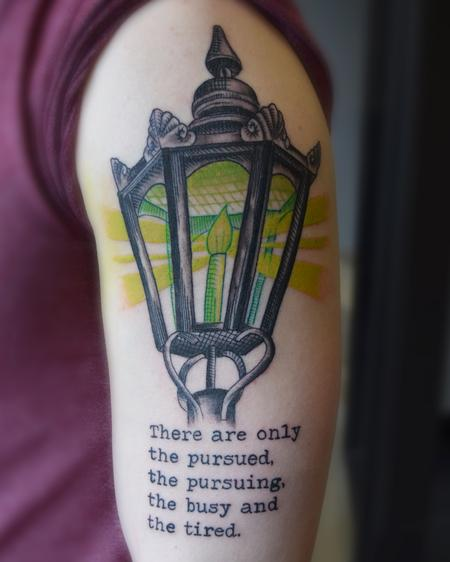 Tattoos - Lantern with green glow - 125004