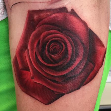 Tattoos - Rose with detail - 106111