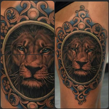Tattoos - realistic lion - 101653