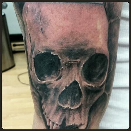 Tattoos - Realistic Skull - 99621