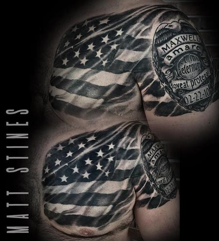 Tattoos - American flag - 132822