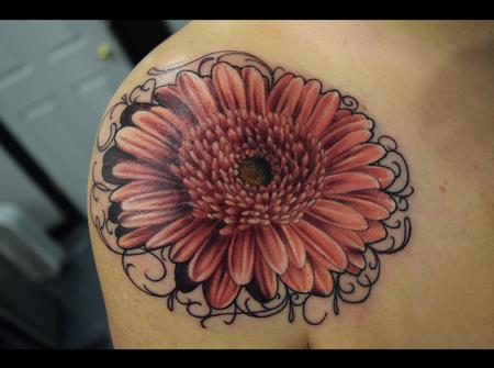 Tattoos - Gerbera Daisy - 100253