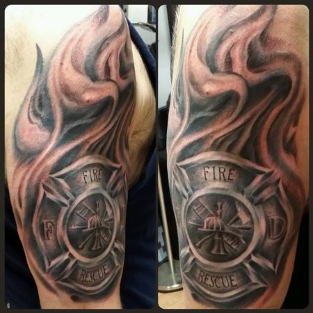 Tattoos - Firefighter Tribute - 94290