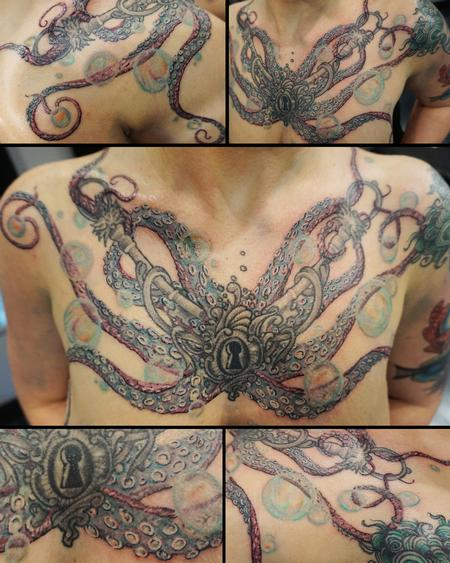 Tattoos - Freehand Octopus chest piece - 114866