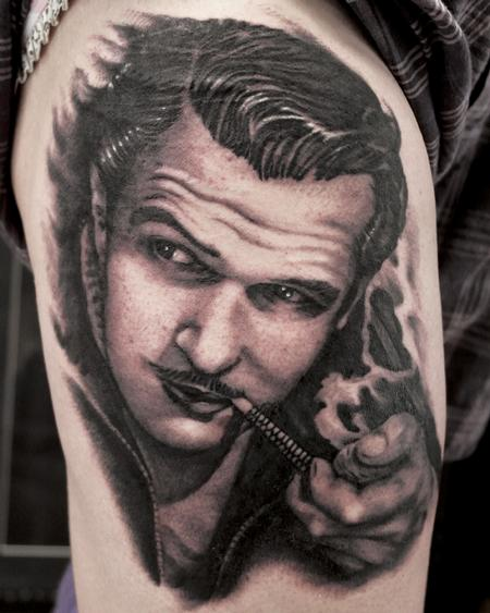 vincent price portrait Tattoo Design Thumbnail