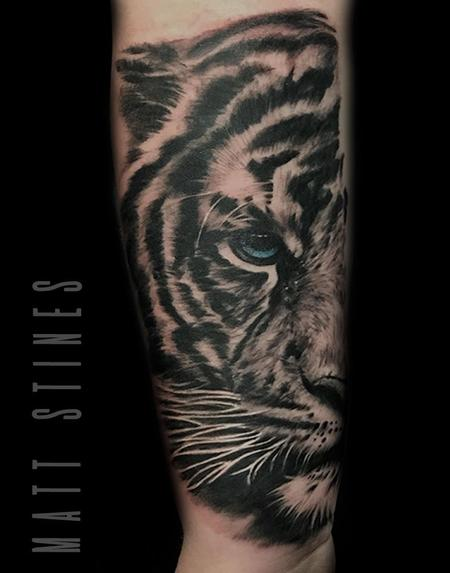 Tattoos - Tiger black and grey - 132827