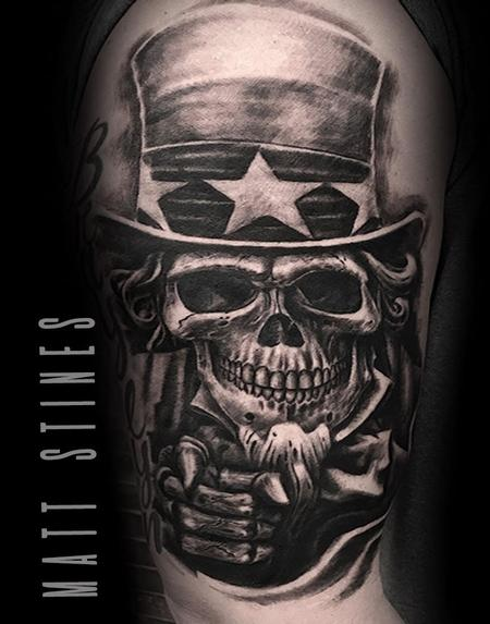 Tattoos - Uncle sam skull - 132828