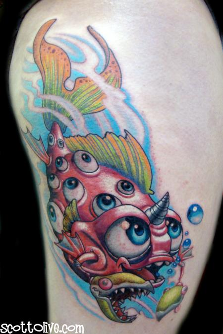 Sweedish Fish Tattoo Design Thumbnail
