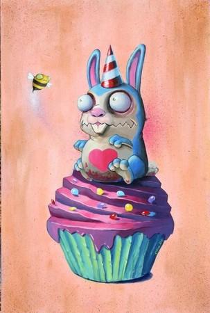Scott Olive - bunny cupcake