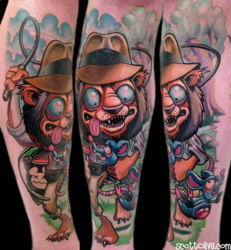Tattoos - Indiana Jones Lion Tattoo - 76130