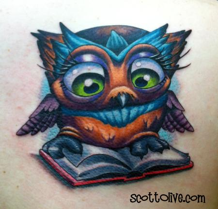 Scott Olive - Book Nerd Owl
