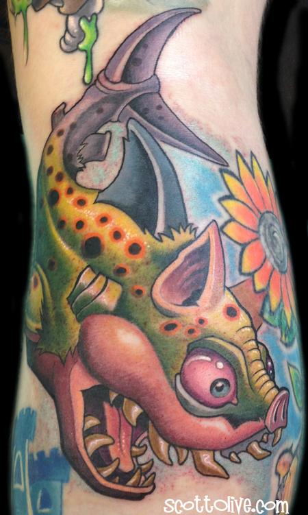 Tattoos - Pig Shark - 91689