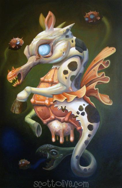 Art Galleries - Scott Olive - Zombie Sea Cow