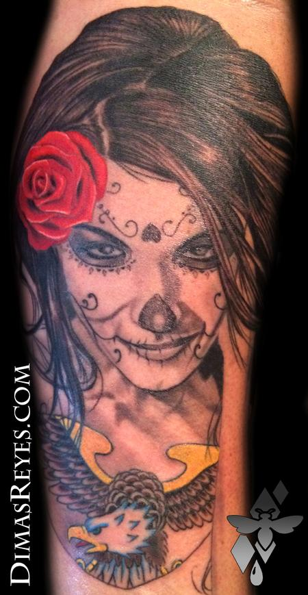 Dimas Reyes - Day of the Dead Girl Tattoo