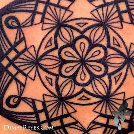 Tattoos - Mandala Tattoo Detail  - 117856