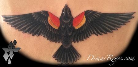 Dimas Reyes - Color Blackbird tattoo