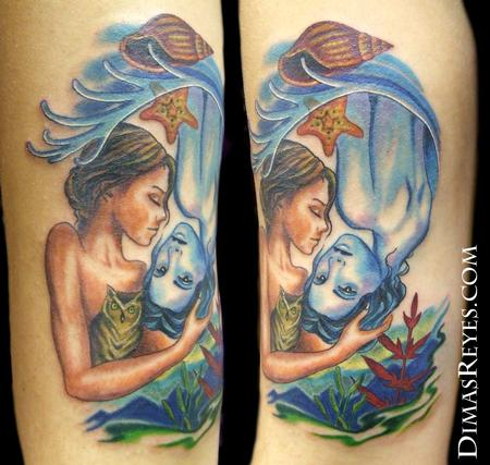 Dimas Reyes - Color Earth/ Water Harmony Tattoo