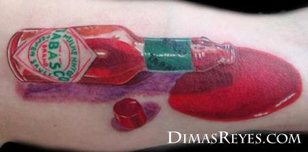 Dimas Reyes - Tabasco Bottle Tattoo