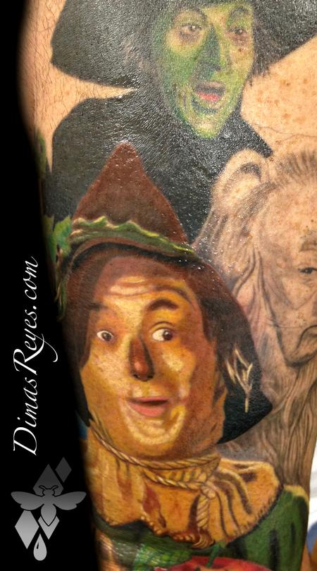 Dimas Reyes - Color Wizard of Oz Scarecrow tattoo