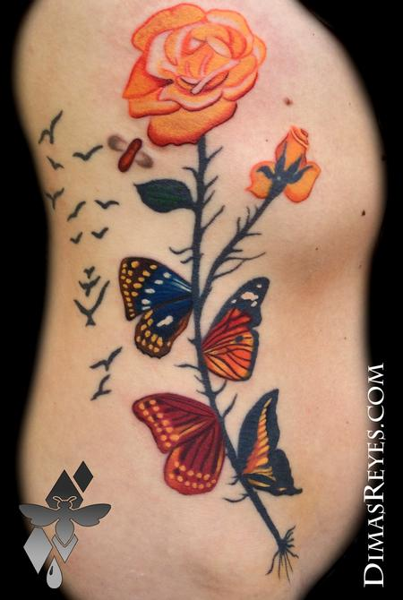 Salvador Dali Butterflies Tattoo Design Thumbnail