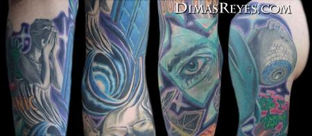 Dimas Reyes - Color Science Fiction Sleeve Details
