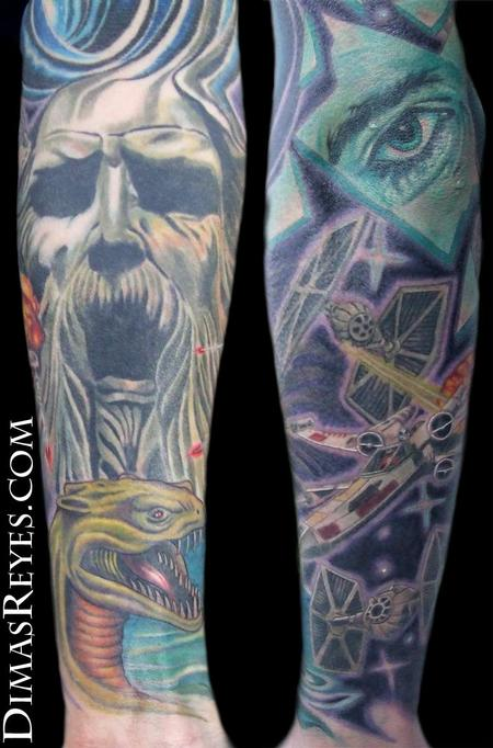 Dimas Reyes - Color Science Fiction Sleeve Detail