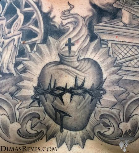 Dimas Reyes - Black and Grey Faith Tattoo detail